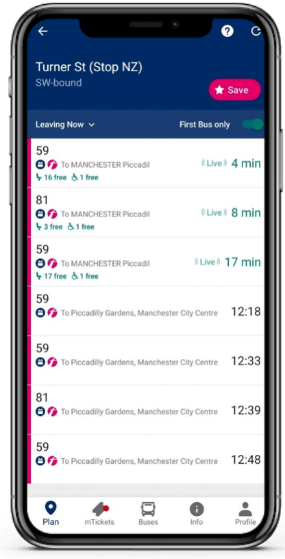 Future Platforms and First Bus COVID-19 App Solution